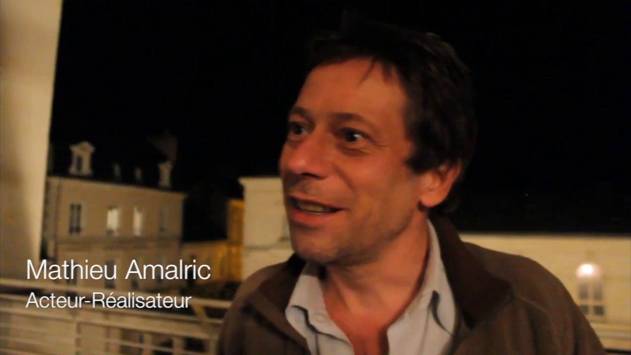 Interview de Mathieu Amalric pour la promotion de La Chambre Bleue